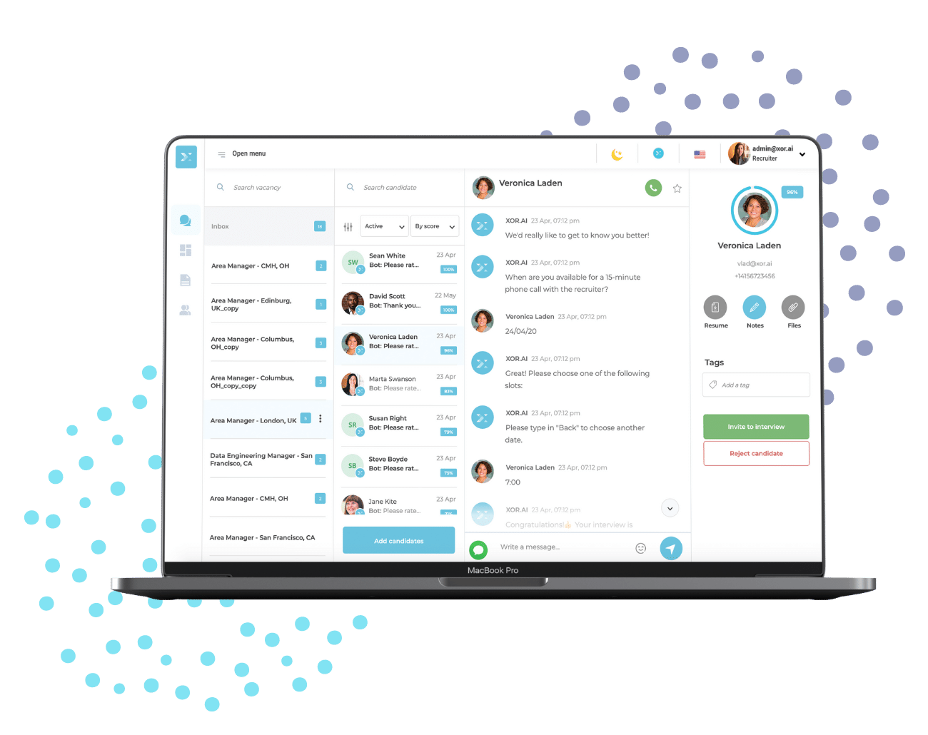 recruiter live chat